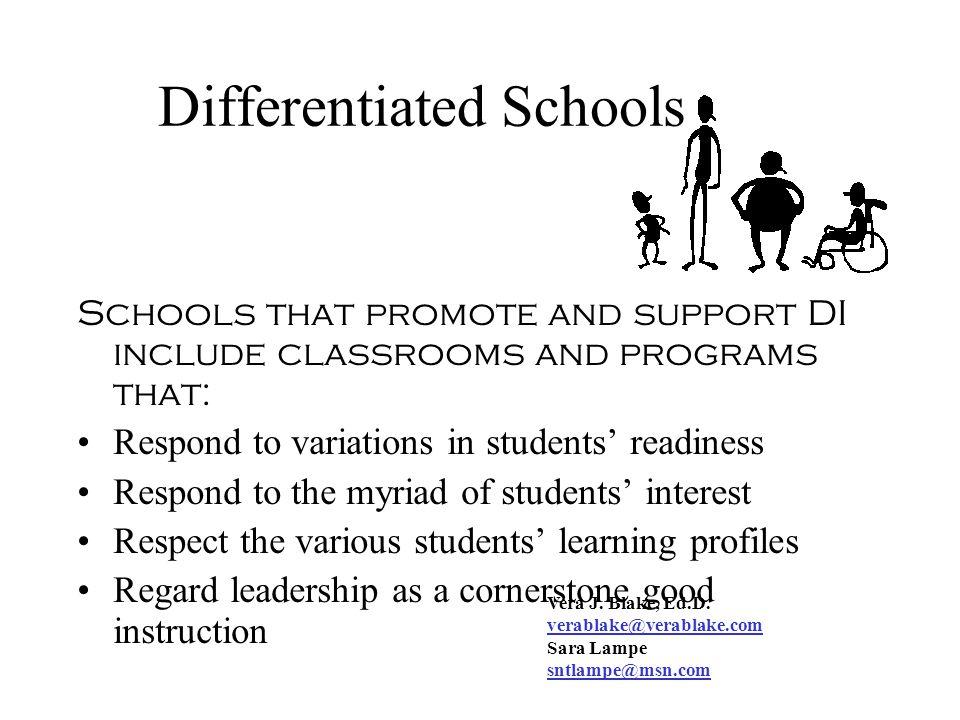 Differentiated Schools
