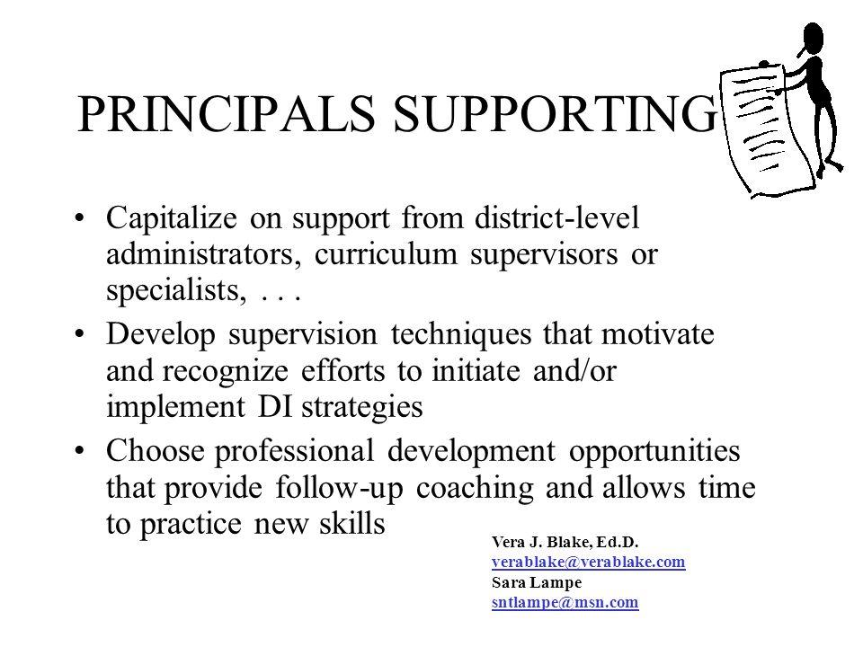 PRINCIPALS SUPPORTING DI