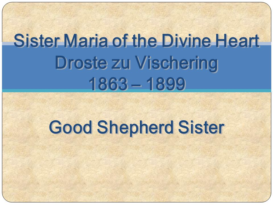 Sister Maria of the Divine Heart