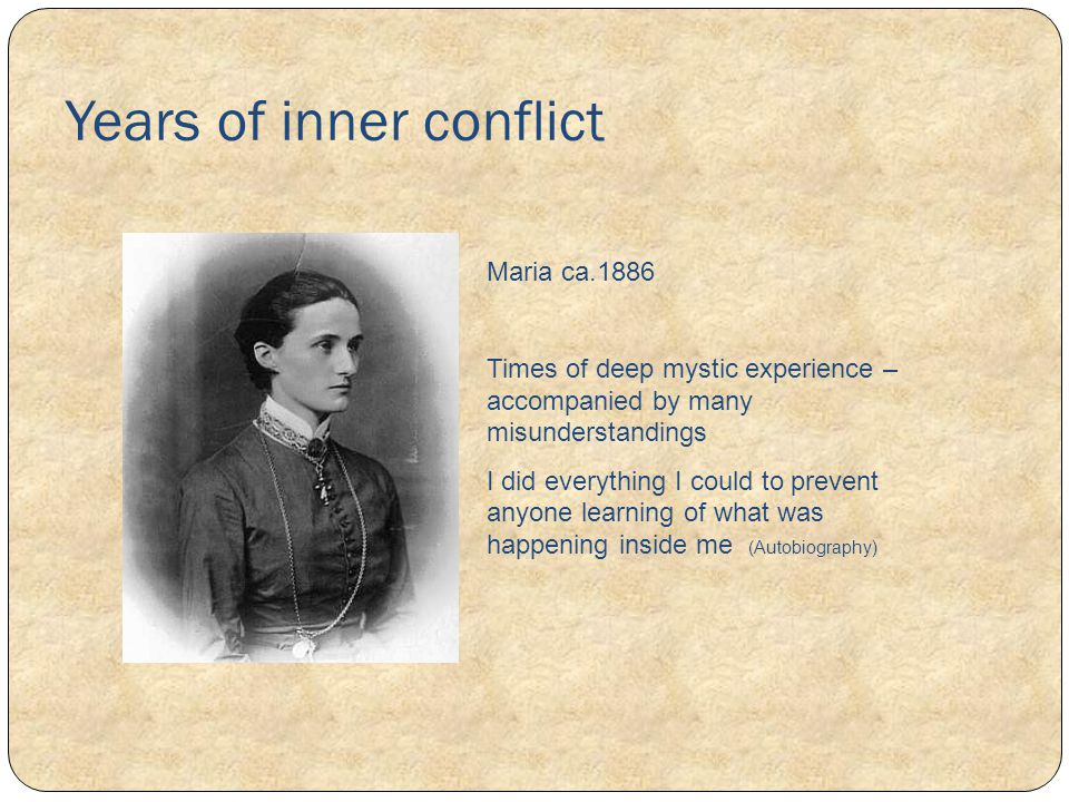 Years of inner conflict