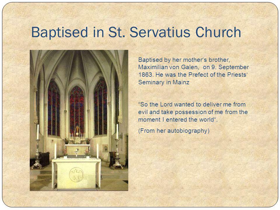 Baptised in St. Servatius Church