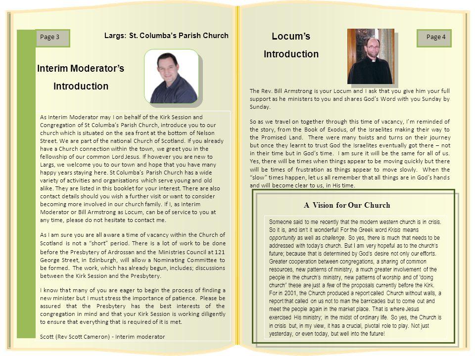Interim Moderator's Introduction Locum's Introduction