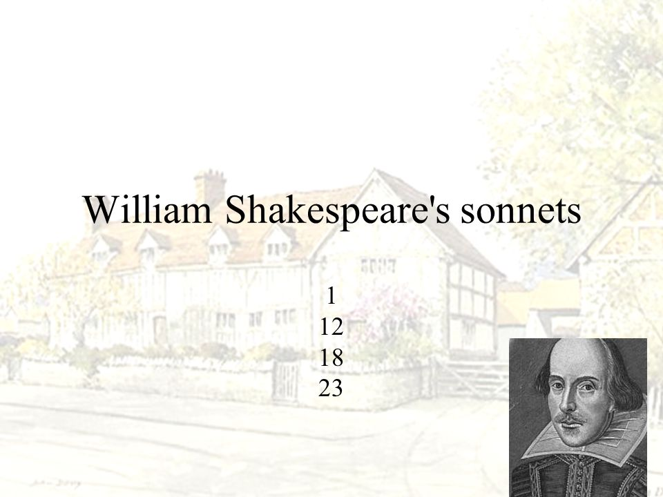 William Shakespeare s sonnets