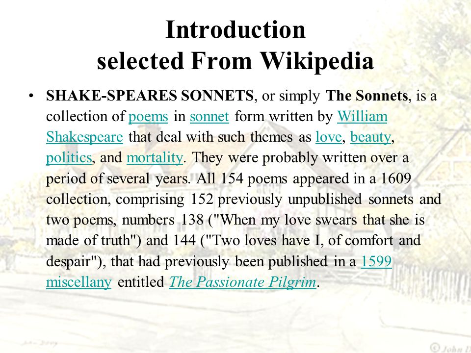 Introduction selected From Wikipedia