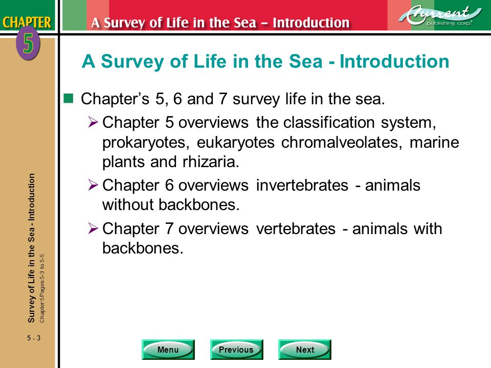 A Survey of Life in the Sea - Introduction