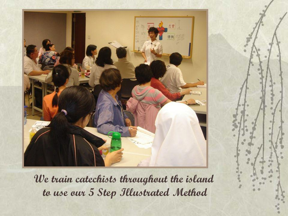 We train catechists throughout the island to use our 5 Step Illustrated Method