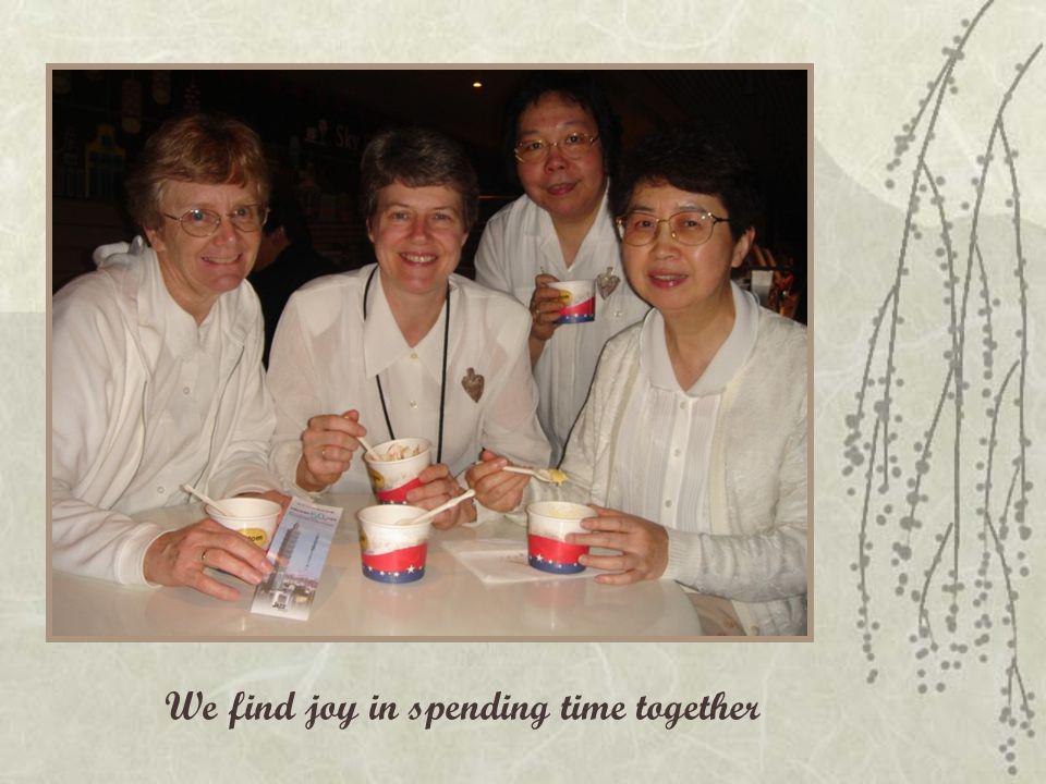 We find joy in spending time together