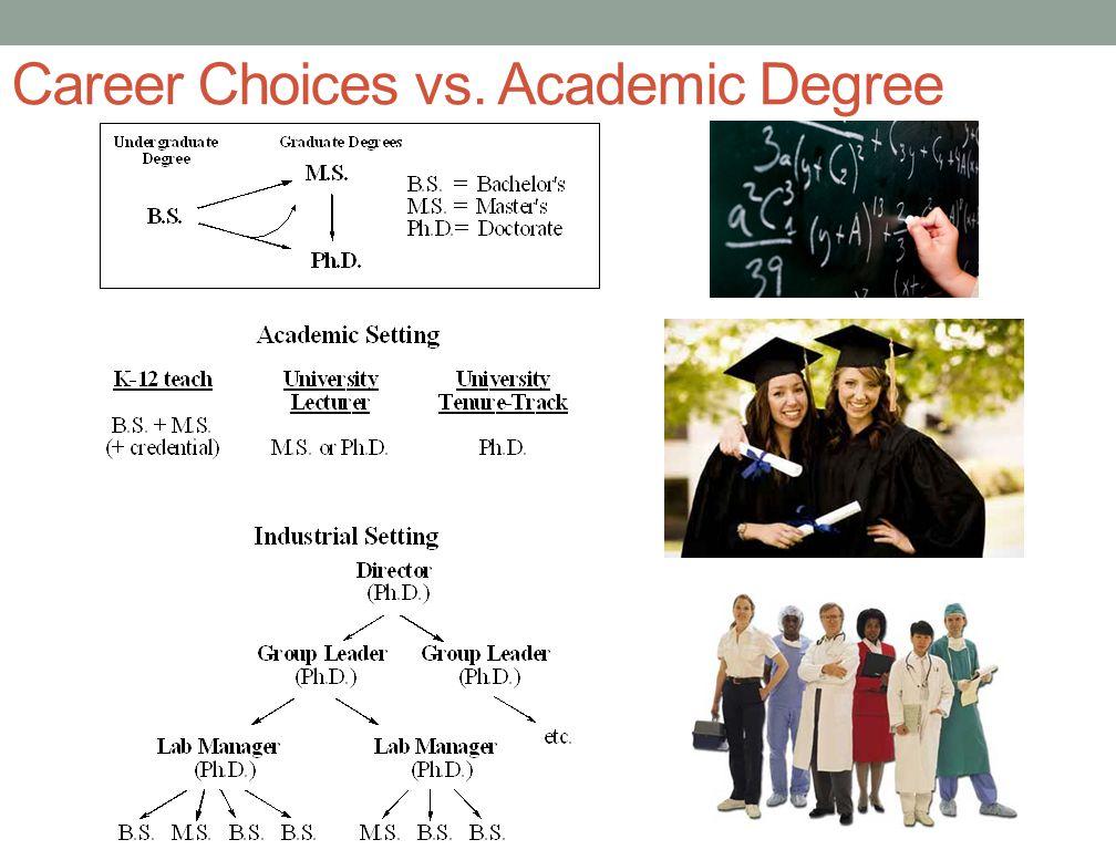 Career Choices vs. Academic Degree