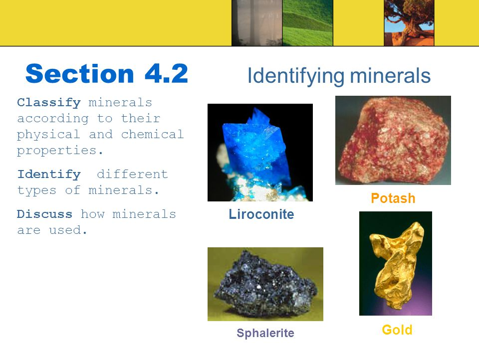 Section 4.2 Identifying minerals