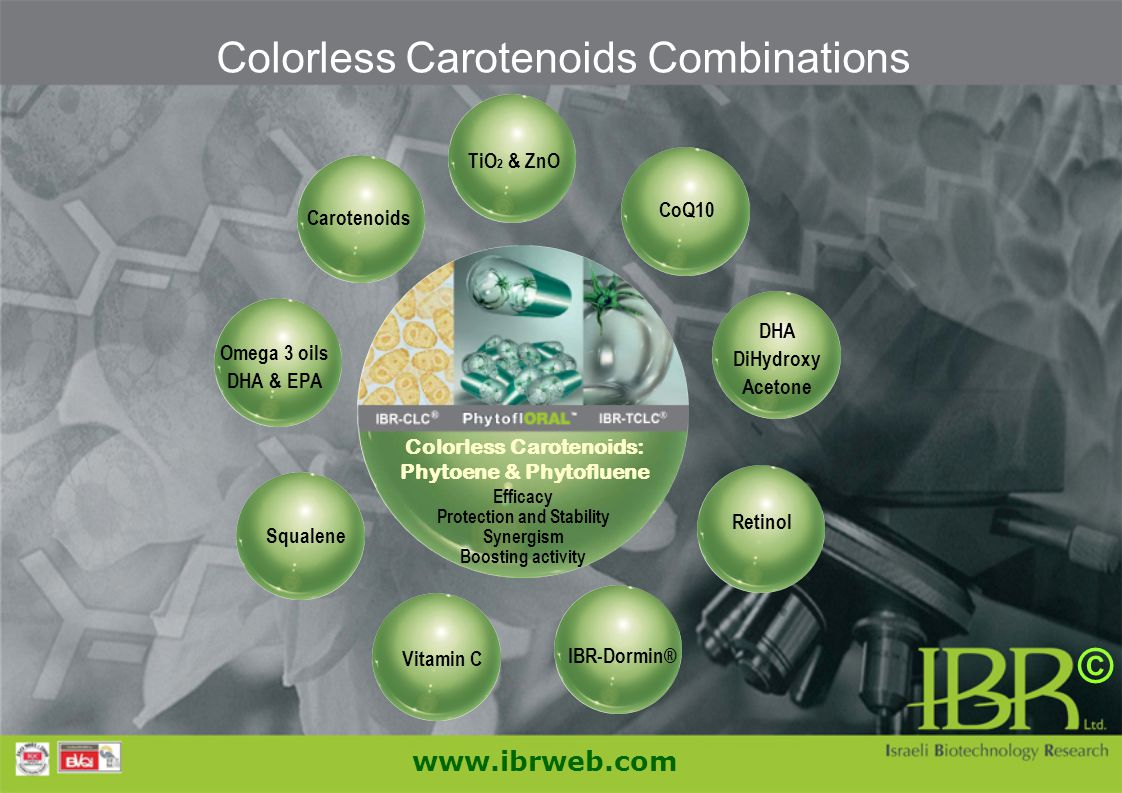 Colorless Carotenoids: Phytoene & Phytofluene Protection and Stability