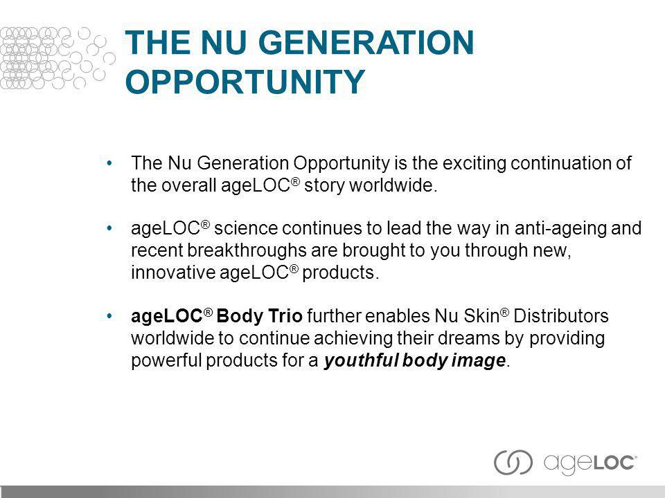 THE NU GENERATION OPPORTUNITY