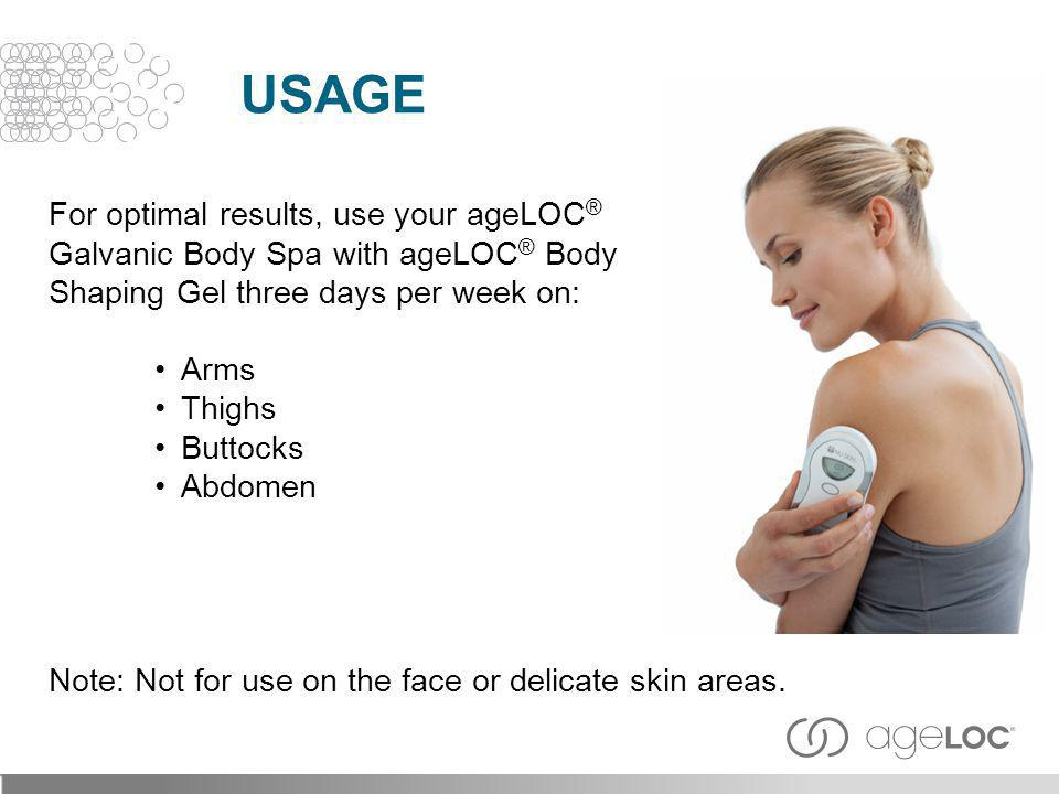 Usage For optimal results, use your ageLOC®
