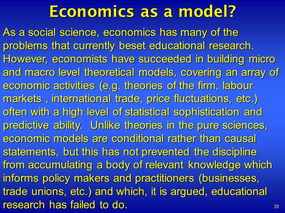 Economics as a model