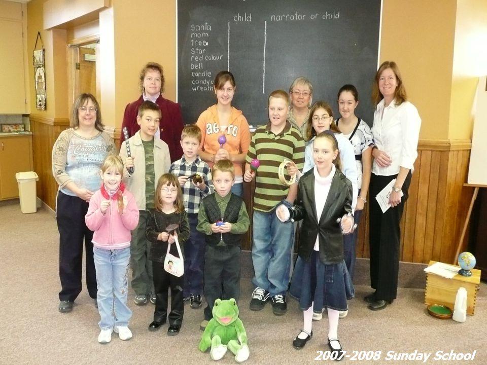 Chime choir. 2007-2008 Sunday School