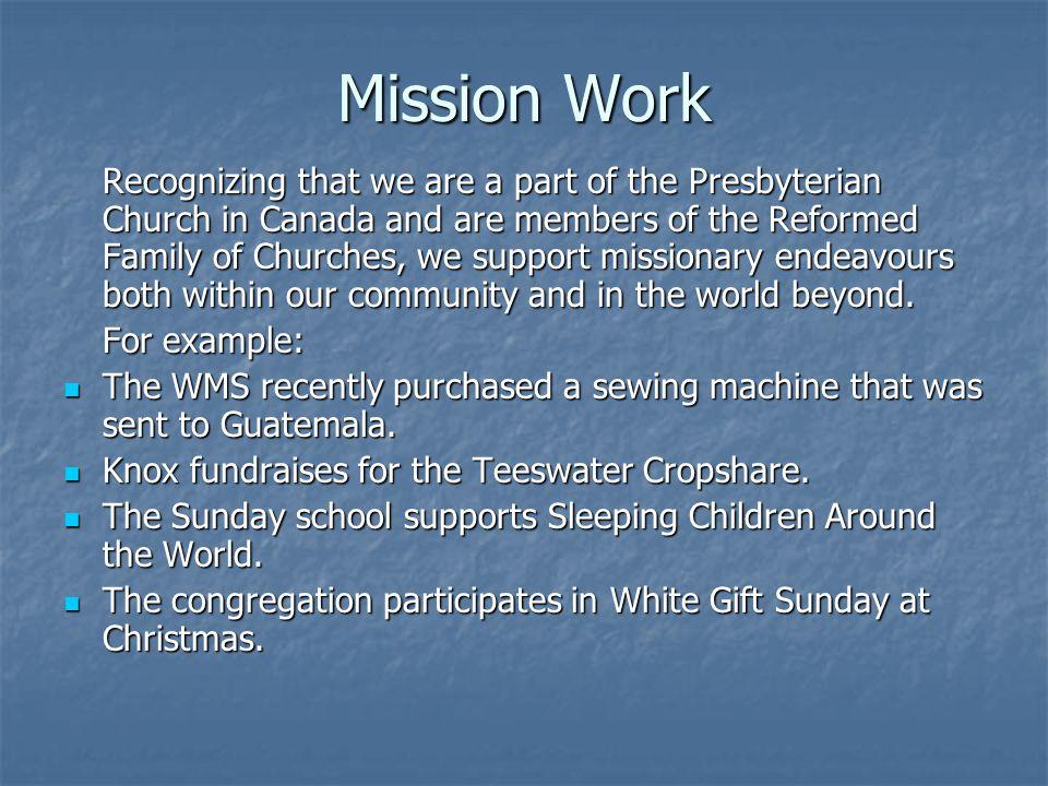 Mission Work