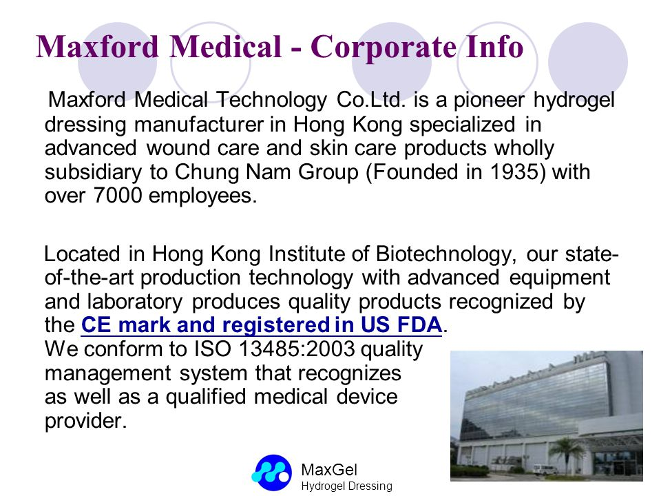 Maxford Medical - Corporate Info