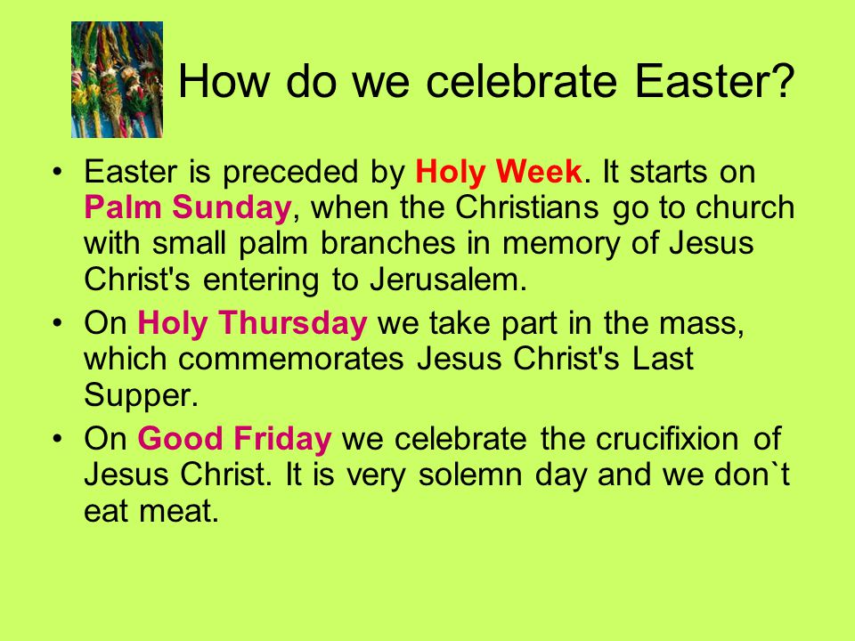 How do we celebrate Easter
