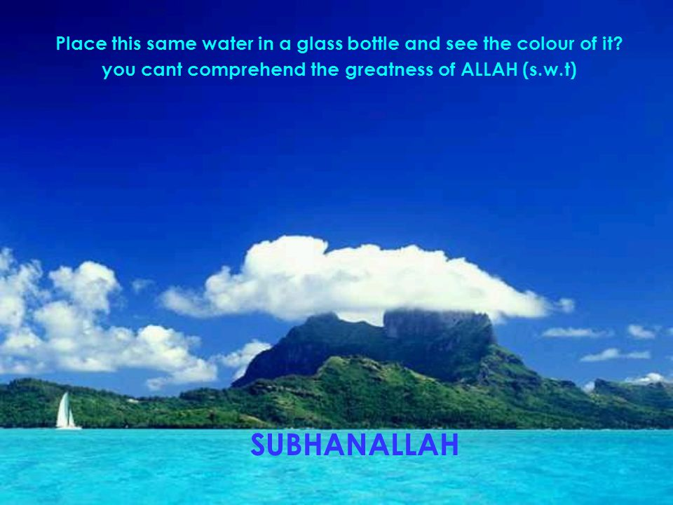 Place this same water in a glass bottle and see the colour of it