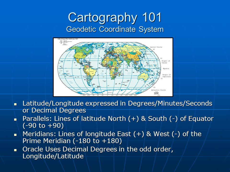 Cartography 101 Geodetic Coordinate System