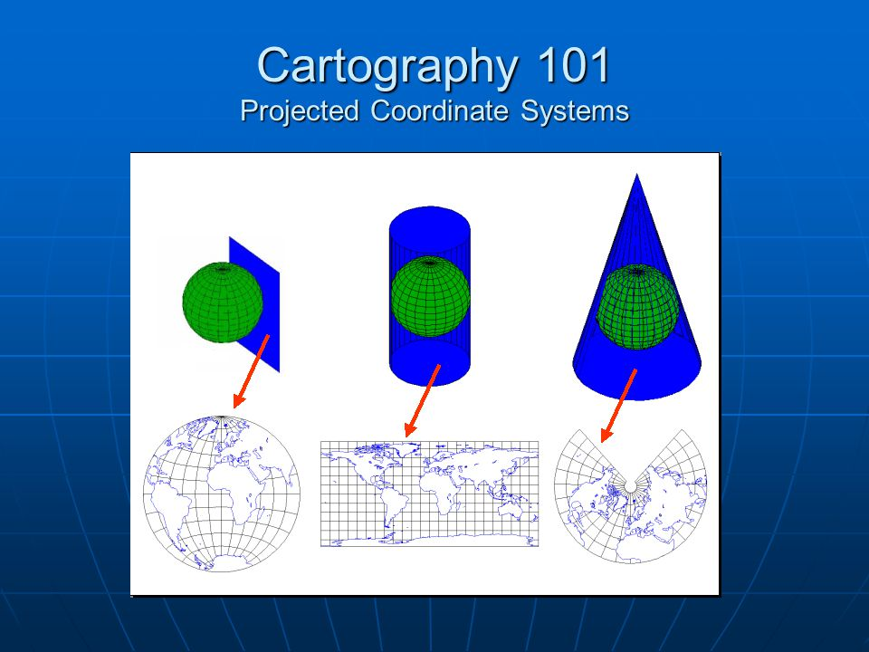 Cartography 101 Projected Coordinate Systems