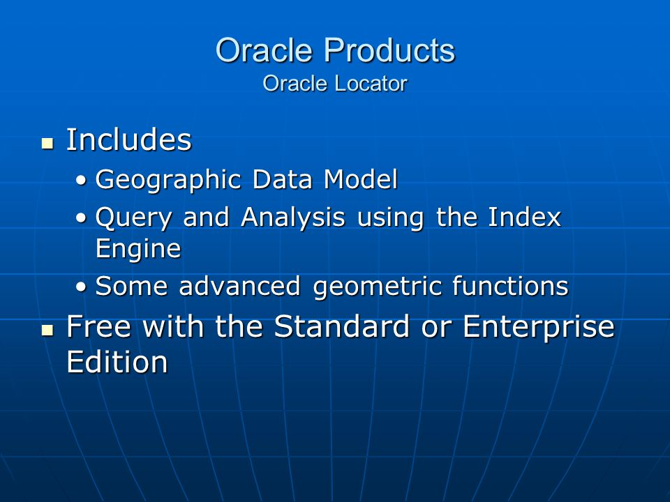 Oracle Products Oracle Locator