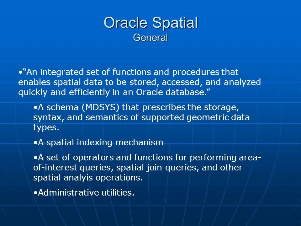 Oracle Spatial General