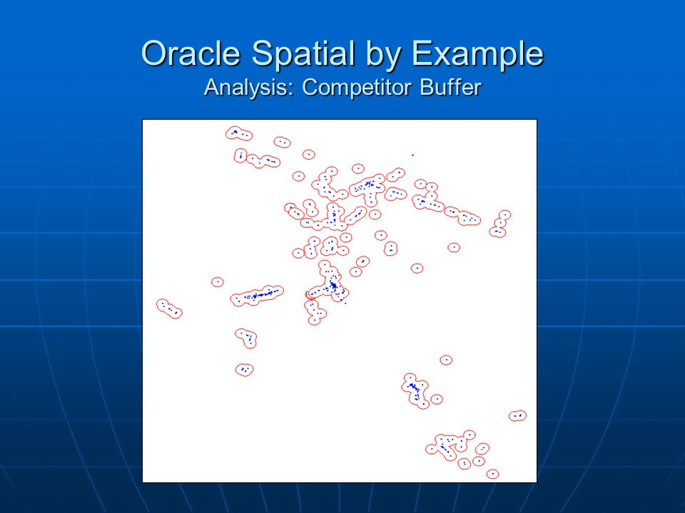 Oracle Spatial by Example Analysis: Competitor Buffer