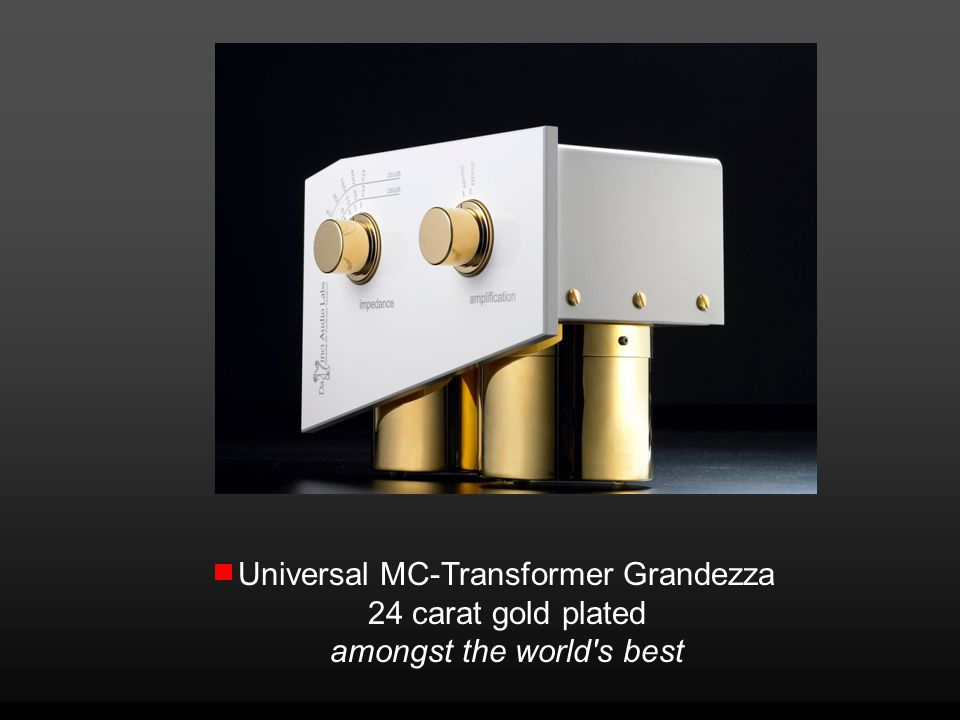 Universal MC-Transformer Grandezza 24 carat gold plated amongst the world s best