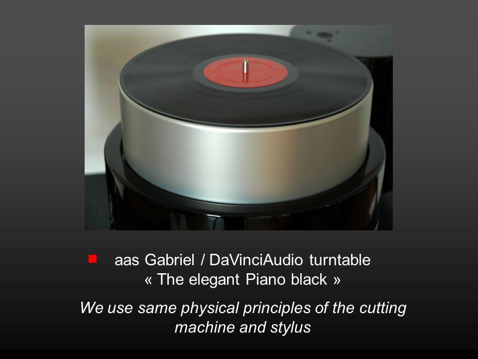 aas Gabriel / DaVinciAudio turntable « The elegant Piano black »