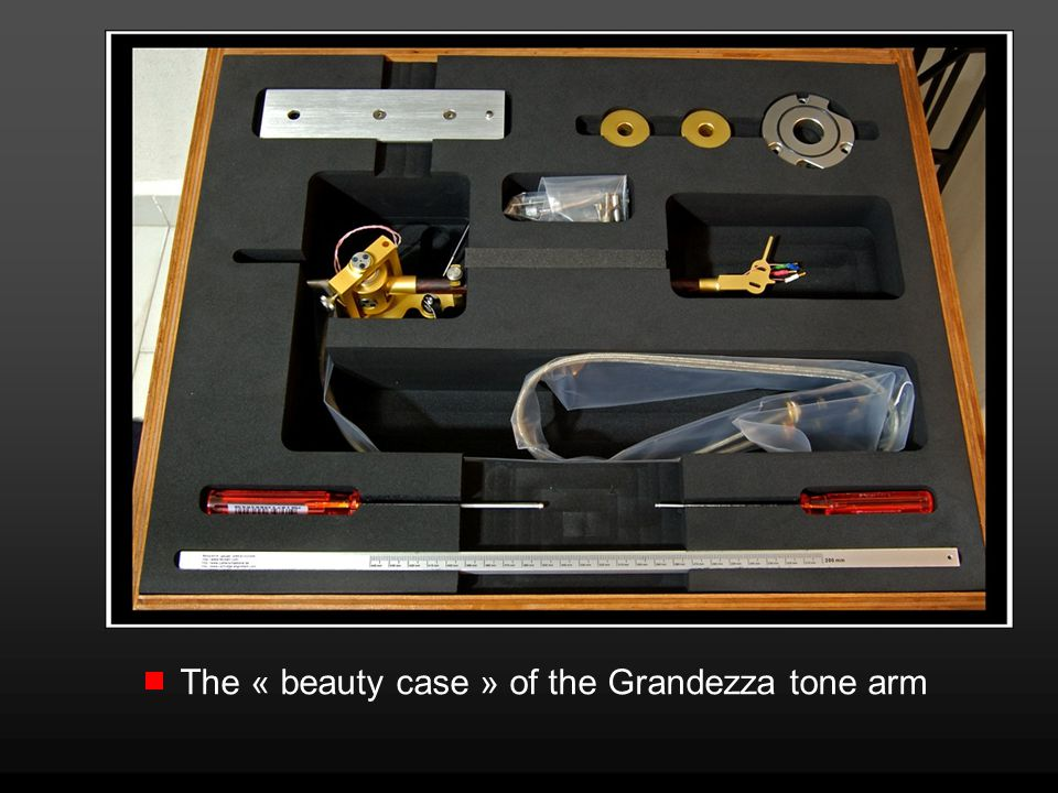 The « beauty case » of the Grandezza tone arm