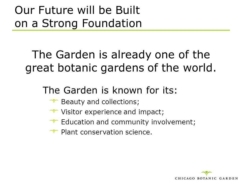 Our Future will be Built on a Strong Foundation