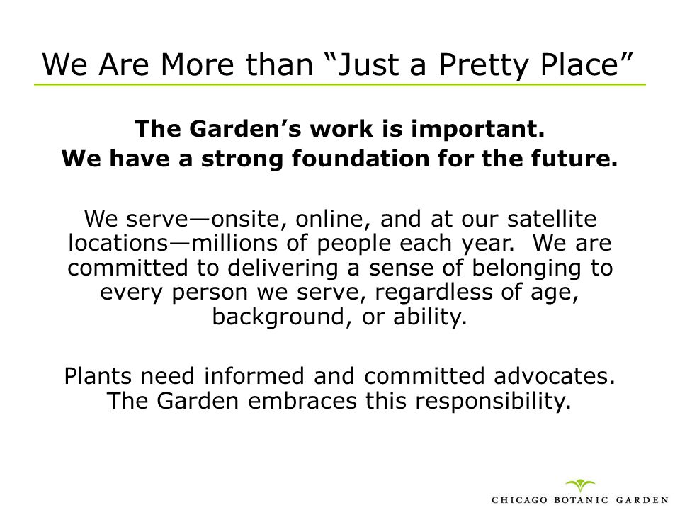 We Are More than Just a Pretty Place