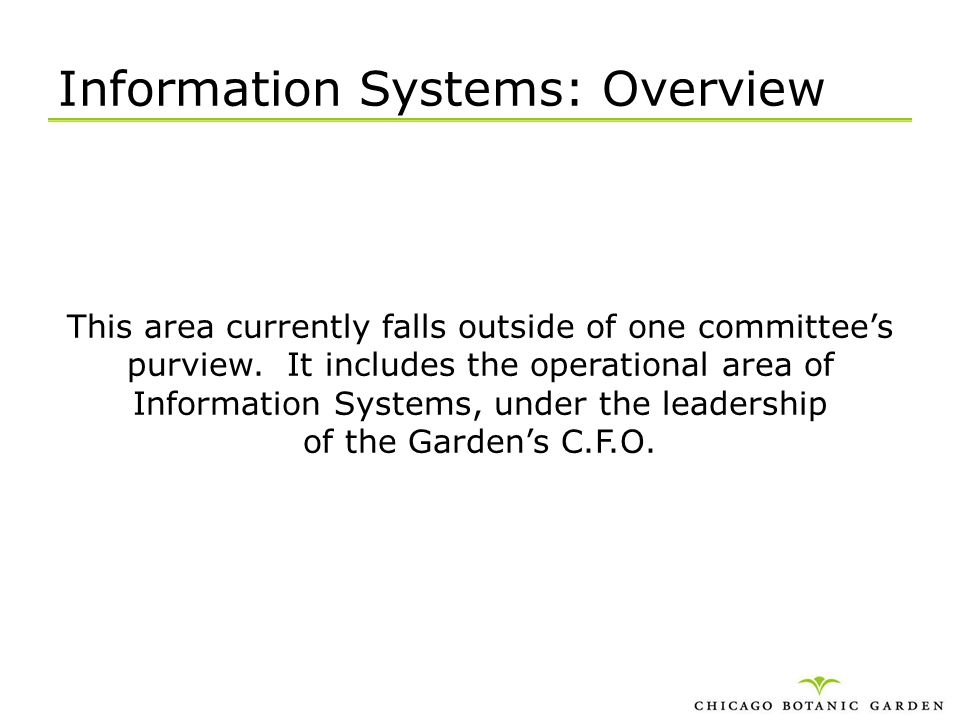Information Systems: Overview