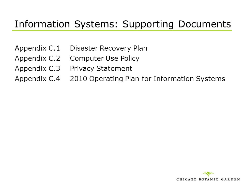 Information Systems: Supporting Documents