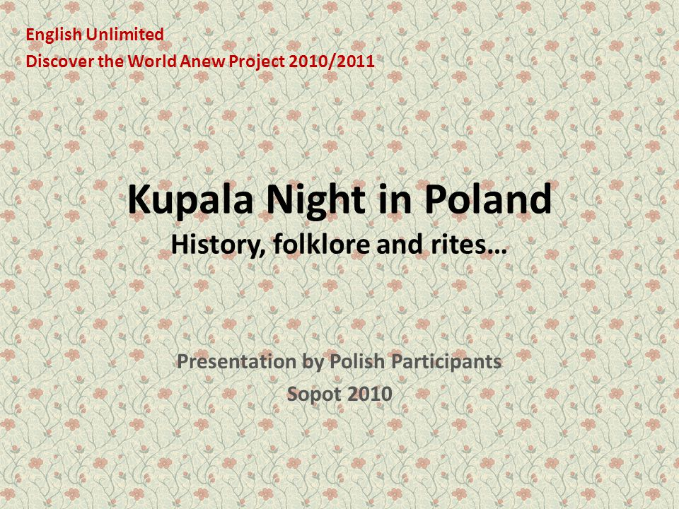Kupala Night in Poland History, folklore and rites…