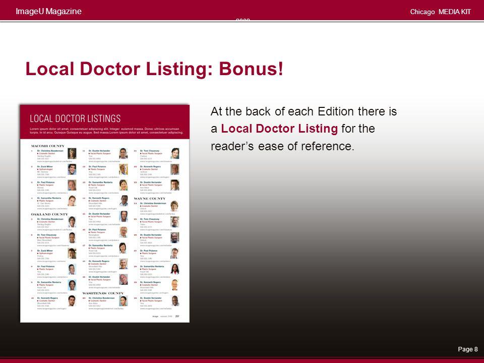 Local Doctor Listing: Bonus!