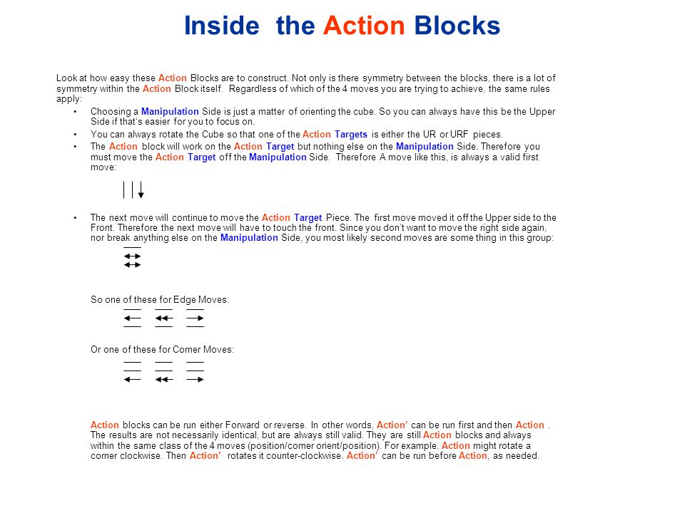Inside the Action Blocks