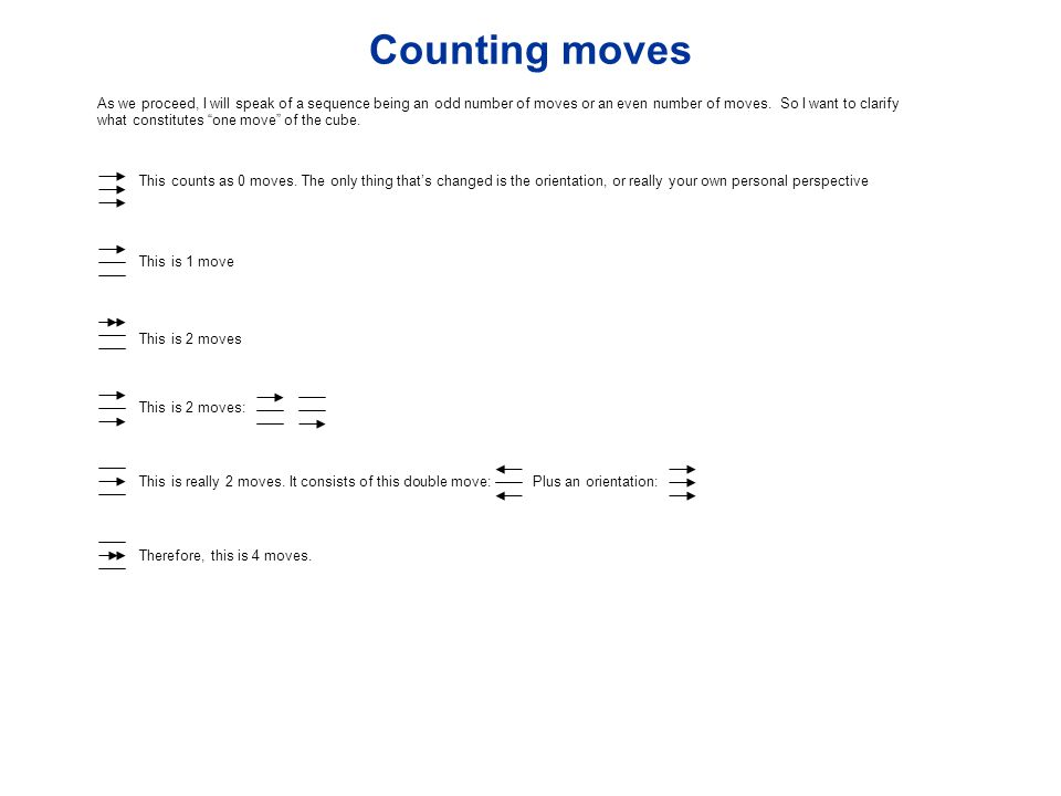 Counting moves