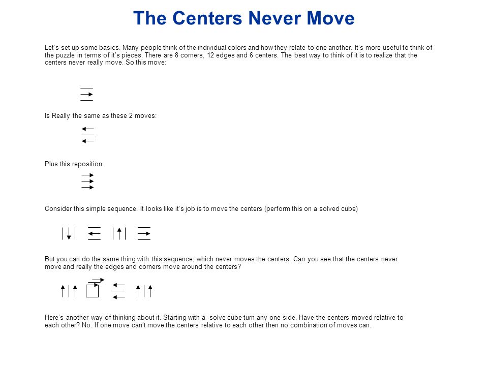 The Centers Never Move