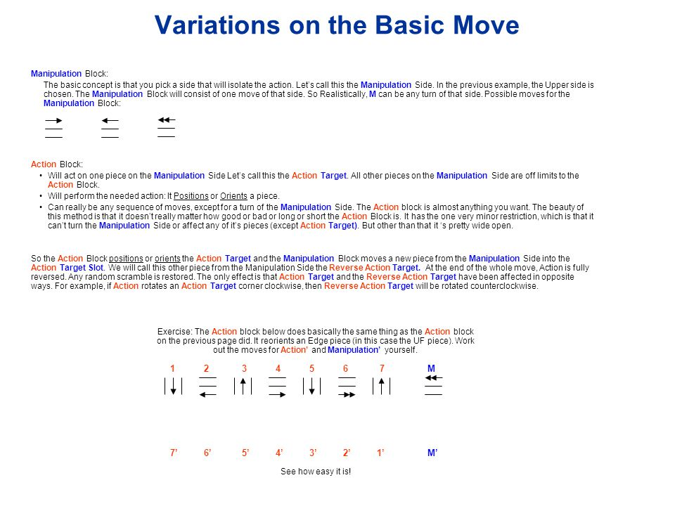Variations on the Basic Move