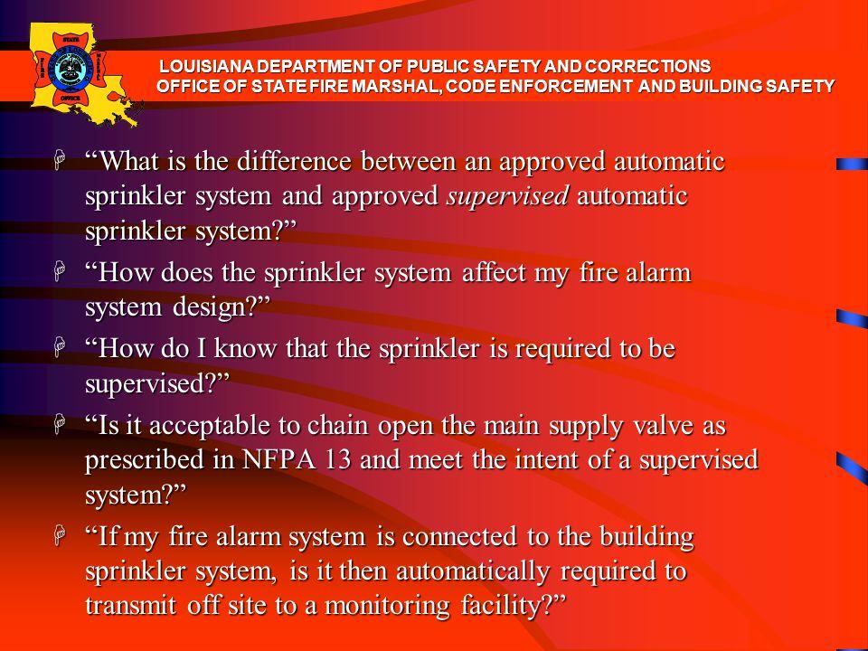 How does the sprinkler system affect my fire alarm system design