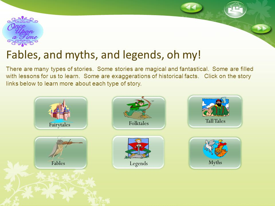 Fables, and myths, and legends, oh my!