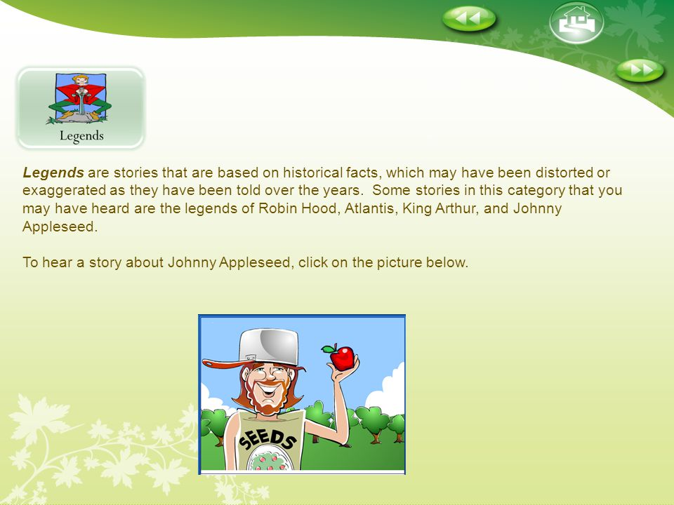 To hear a story about Johnny Appleseed, click on the picture below.