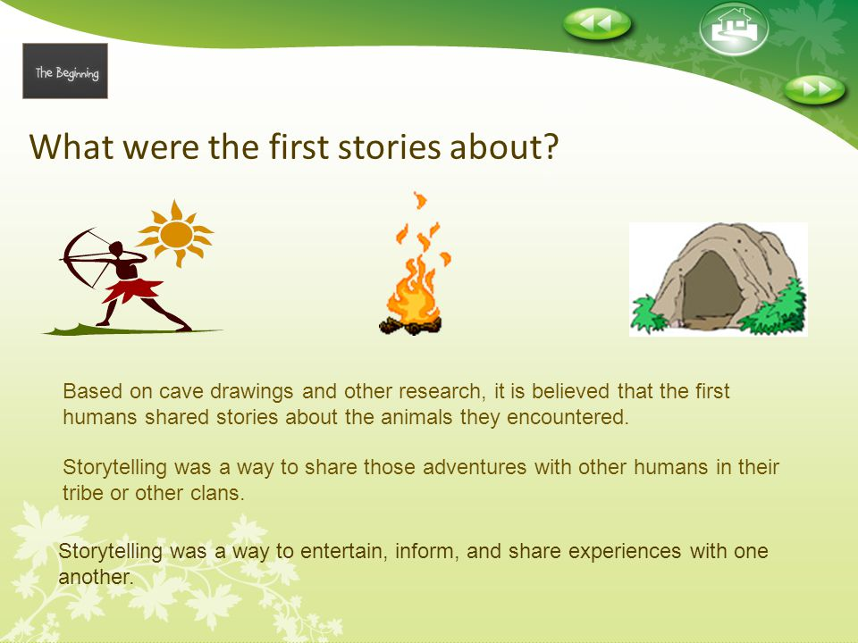 What were the first stories about