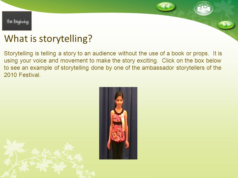 What is storytelling