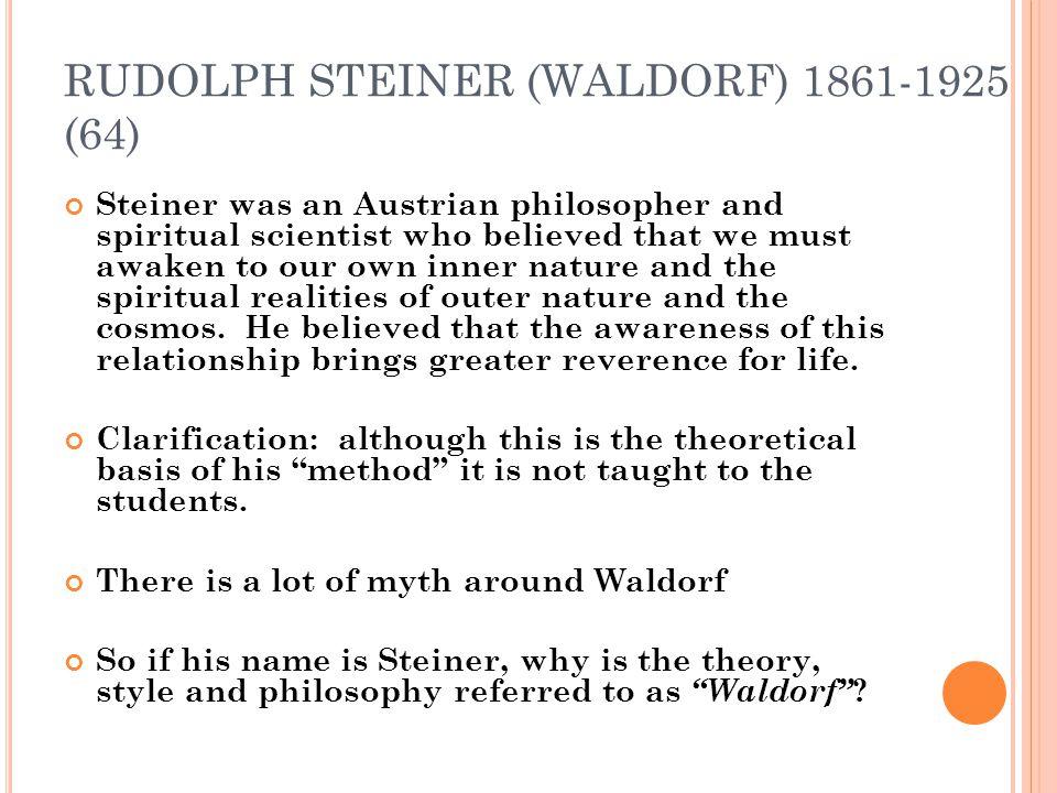 RUDOLPH STEINER (WALDORF) 1861-1925 (64)