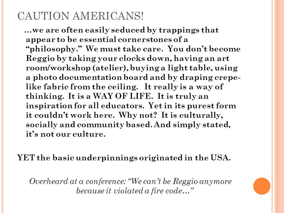 CAUTION AMERICANS!