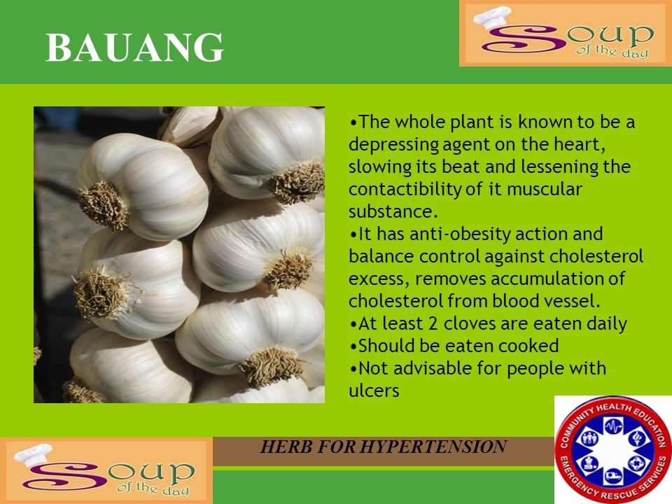 BAUANG The whole plant is known to be a depressing agent on the heart, slowing its beat and lessening the contactibility of it muscular substance.