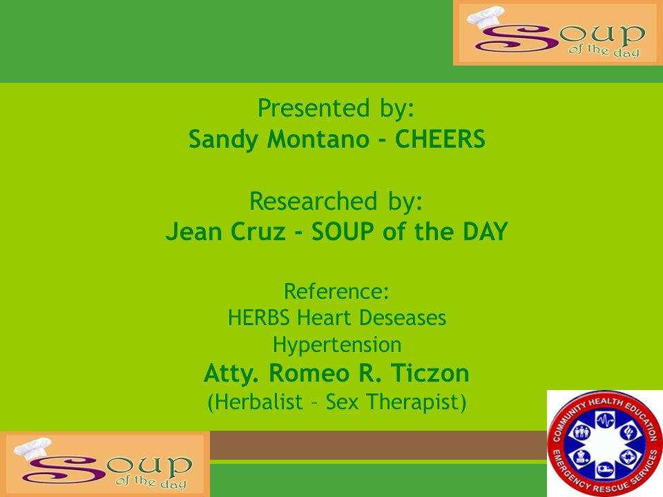 Jean Cruz - SOUP of the DAY