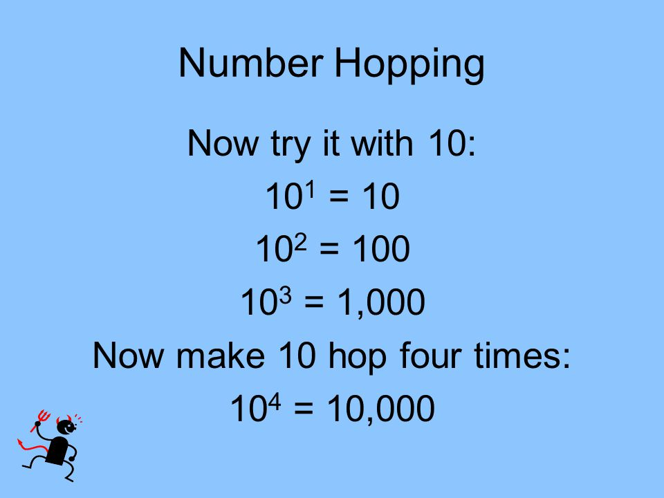 Now make 10 hop four times: